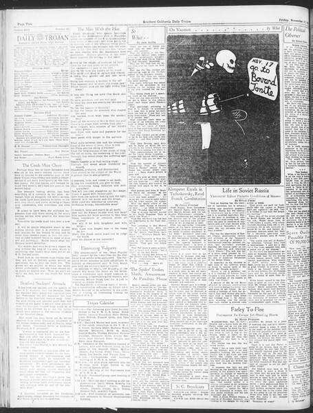Daily Trojan, Vol. 25, No. 40, November 17, 1933