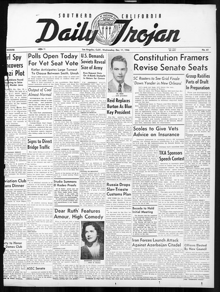 Daily Trojan, Vol. 38, No. 61, December 11, 1946