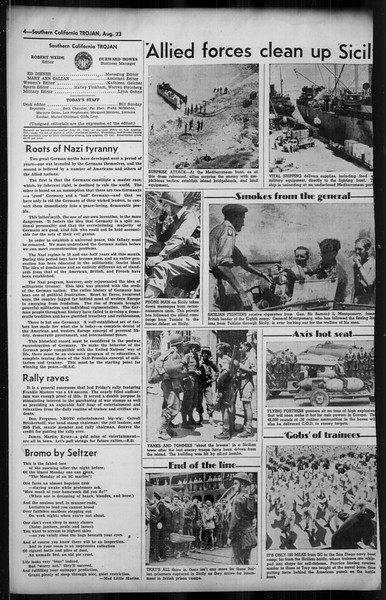 Southern California Trojan, Vol. 35, No. 22, August 23, 1943