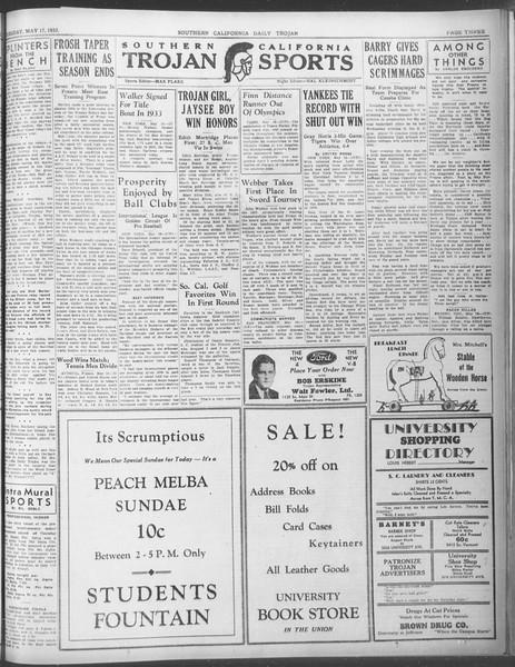 Daily Trojan, Vol. 23, No. 147, May 17, 1932