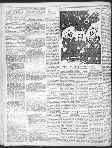 Daily Trojan, Vol. 25, No. 38, November 15, 1933
