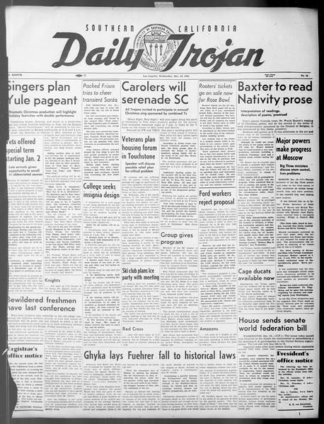 Daily Trojan, Vol. 37, No. 34, December 19, 1945