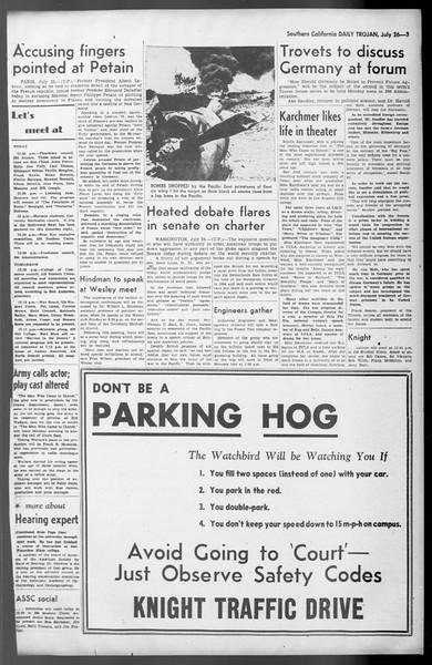 Daily Trojan, Vol. 36, No. 165, July 26, 1945