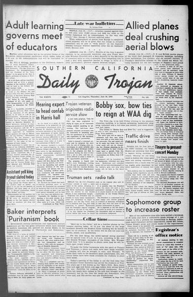Daily Trojan, Vol. 36, No. 165, July 26, 1945