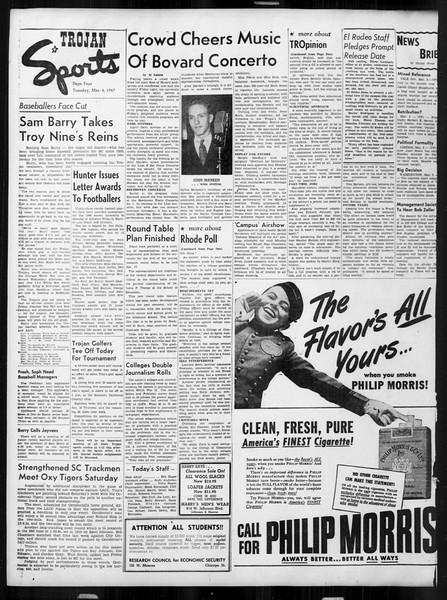 Daily Trojan, Vol. 38, No. 87, March 04, 1947