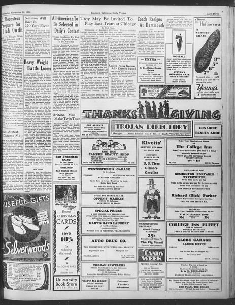 Daily Trojan, Vol. 25, No. 48, November 29, 1933