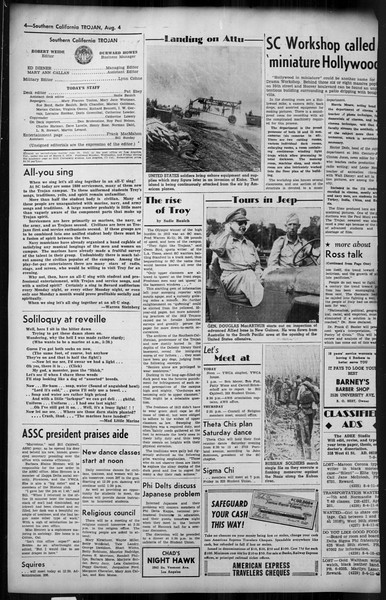 Southern California Trojan, Vol. 35, No. 14, August 04, 1943