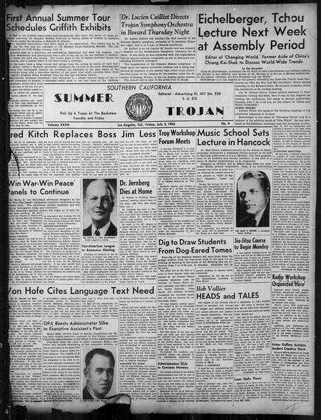 Summer Trojan, Vol. 33, No. 4, July 03, 1942