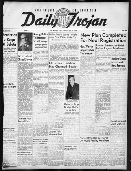 Daily Trojan, Vol. 38, No. 65, December 17, 1946
