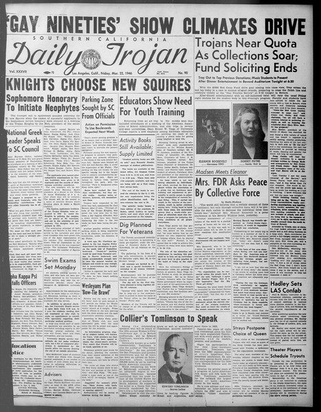 Daily Trojan, Vol. 37, No. 90, March 22, 1946