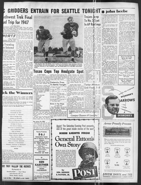 Daily Trojan, Vol. 39, No. 33, October 29, 1947