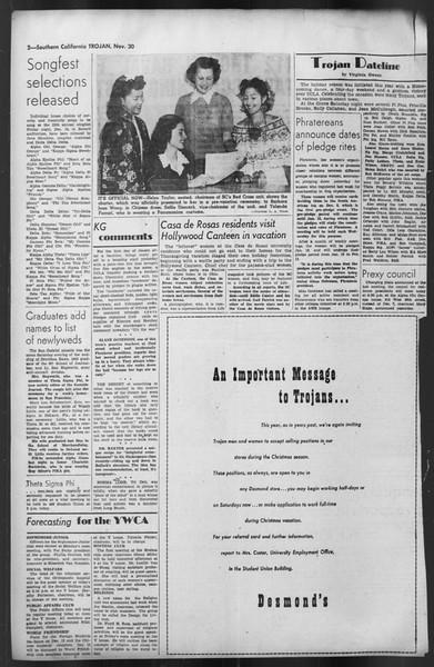 The Trojan, Vol. 35, No. 55, November 30, 1943