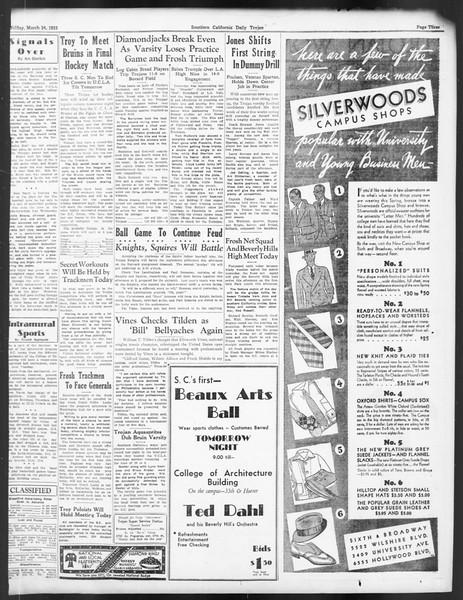 Daily Trojan, Vol. 24, No. 113, March 24, 1933