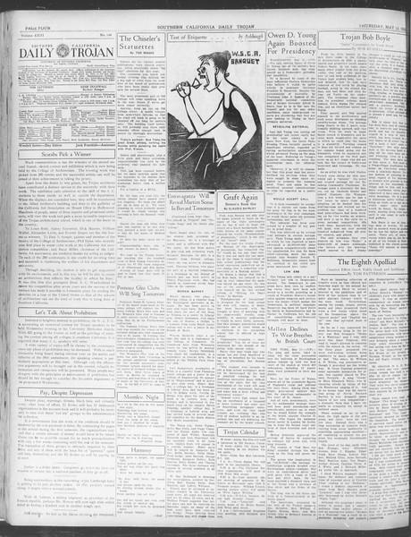 Daily Trojan, Vol. 23, No. 144, May 12, 1932