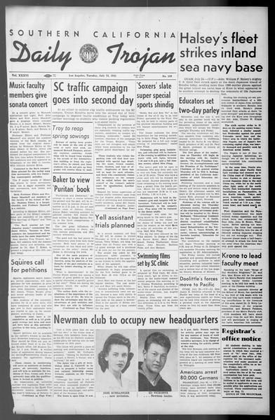 Daily Trojan, Vol. 36, No. 163, July 24, 1945
