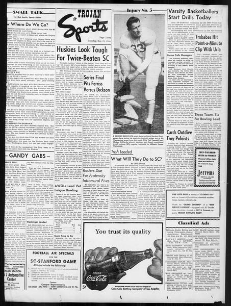 Daily Trojan, Vol. 38, No. 22, October 15, 1946