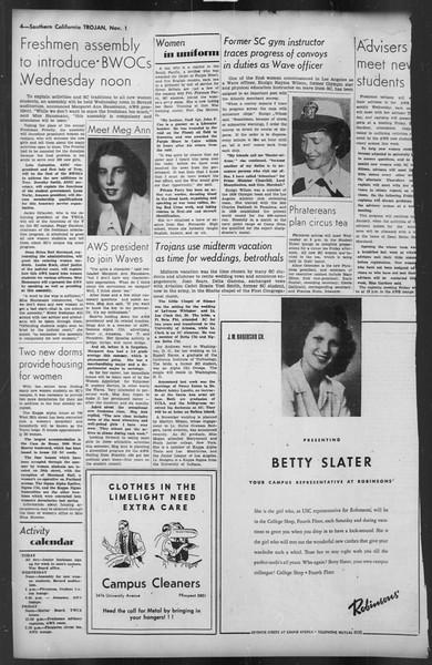The Trojan, Vol. 35, No. 44, November 01, 1943