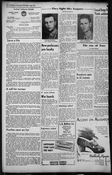 Southern California Trojan, Vol. 35, No. 34, September 20, 1943