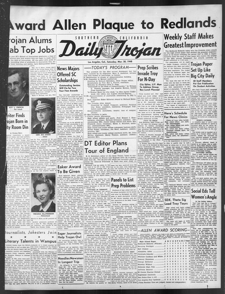 Daily Trojan, Vol. 39, No. 103-A, March 20, 1948