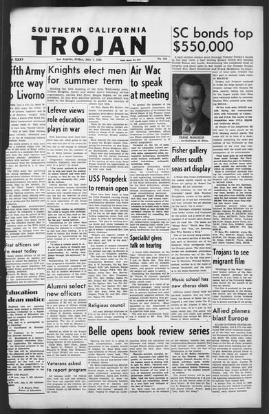 The Trojan, Vol. 35, No. 134, July 07, 1944