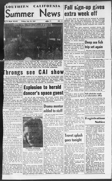 Summer News, Vol. 2, No. 14, July 25, 1947