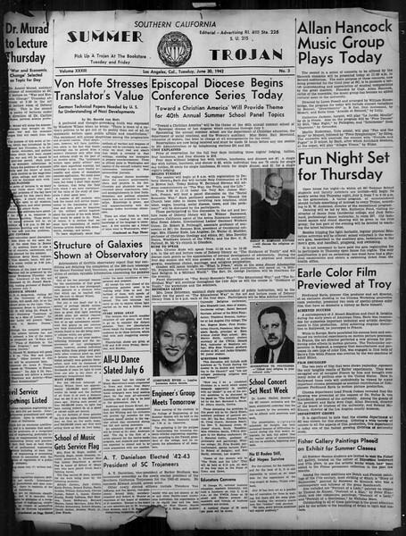 Summer Trojan, Vol. 33, No. 3, June 30, 1942