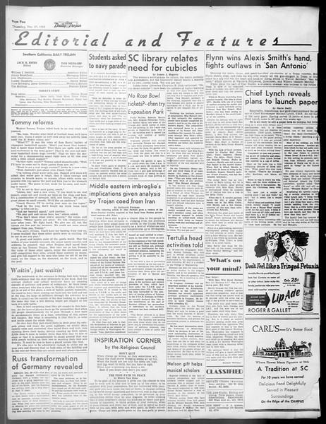 Daily Trojan, Vol. 37, No. 37, December 27, 1945