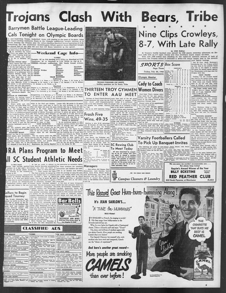 Daily Trojan, Vol. 39, No. 83, February 20, 1948