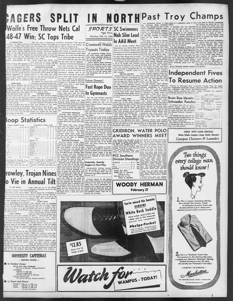 Daily Trojan, Vol. 39, No. 79, February 16, 1948