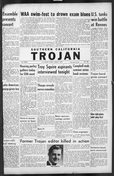 The Trojan, Vol. 35, No. 146, August 04, 1944