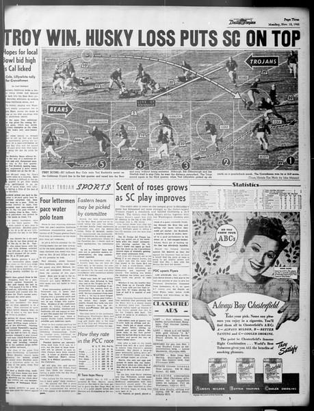 Daily Trojan, Vol. 37, No. 8, November 12, 1945