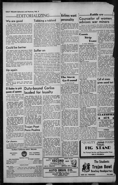 Daily Trojan, Vol. 34, No. 78, February 05, 1943