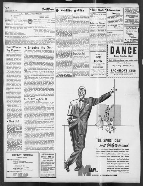 Daily Trojan, Vol. 39, No. 20, October 10, 1947