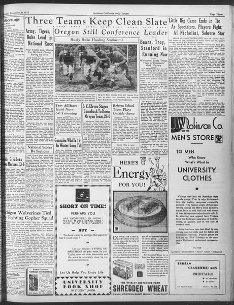 Daily Trojan, Vol. 25, No. 41, November 20, 1933