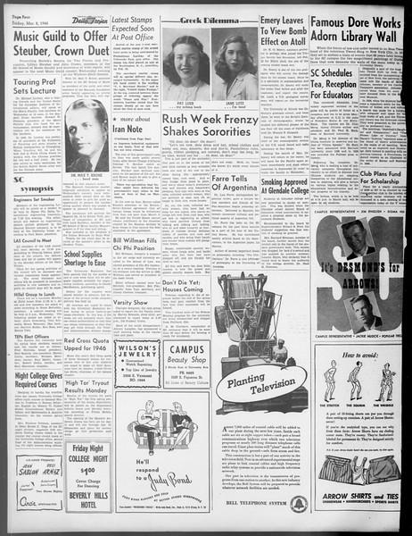 Daily Trojan, Vol. 37, No. 80, March 08, 1946