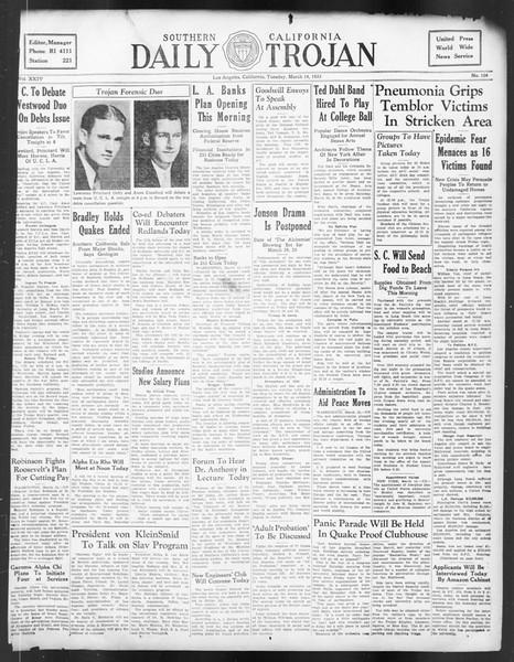 Daily Trojan, Vol. 24, No. 104, March 14, 1933
