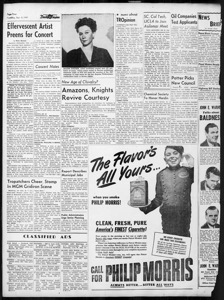 Daily Trojan, Vol. 38, No. 109, April 08, 1947