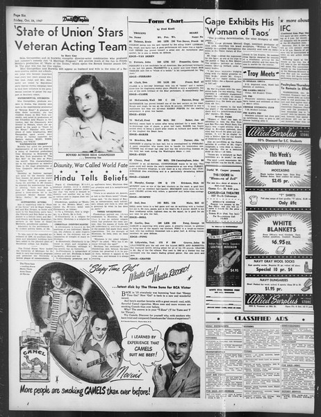 Daily Trojan, Vol. 39, No. 30, October 24, 1947