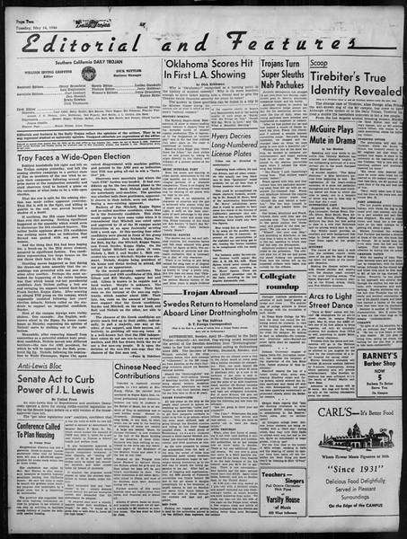 Daily Trojan, Vol. 37, No. 127, May 14, 1946