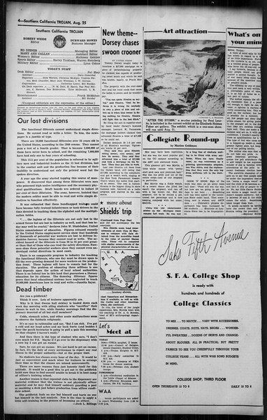 Southern California Trojan, Vol. 35, No. 23, August 25, 1943