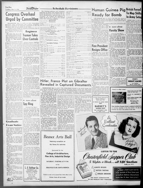 Daily Trojan, Vol. 37, No. 77, March 05, 1946