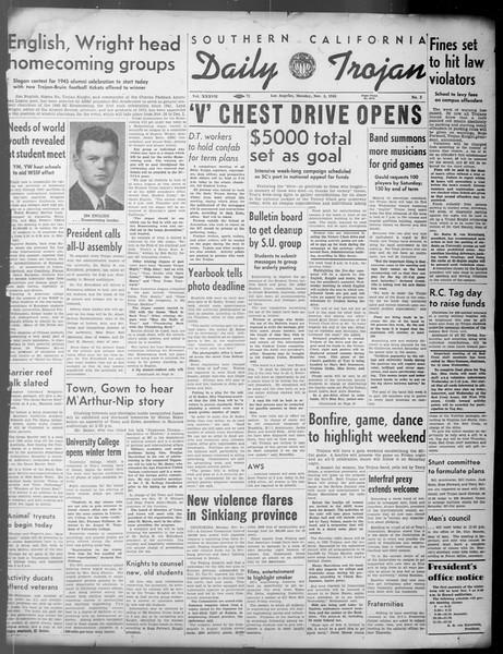 Daily Trojan, Vol. 37, No. 3, November 05, 1945