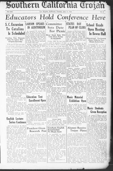 Southern California Trojan, Vol. 12, No. 6, July 11, 1933