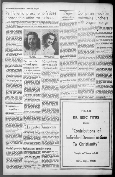 Daily Trojan, Vol. 36, No. 184, August 23, 1945