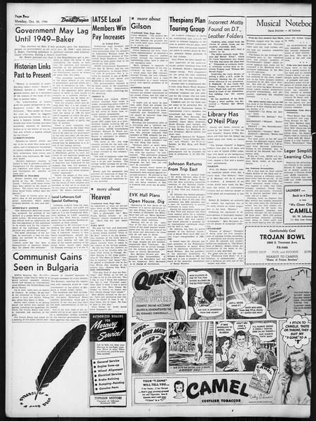 Daily Trojan, Vol. 38, No. 31, October 28, 1946