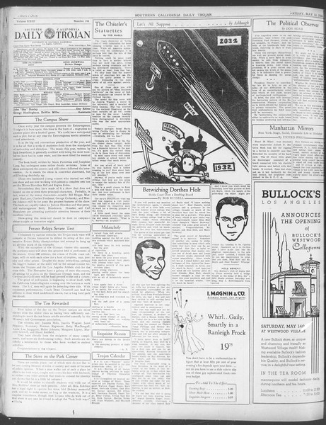 Daily Trojan, Vol. 23, No. 145, May 13, 1932