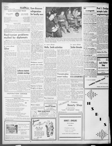 Daily Trojan, Vol. 37, No. 41, January 03, 1946
