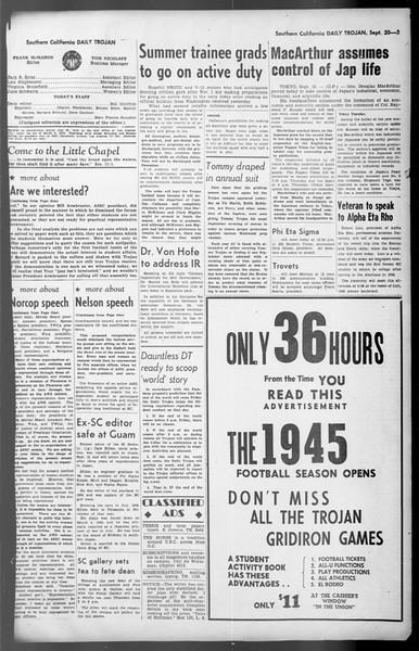 Daily Trojan, Vol. 36, No. 204, September 20, 1945