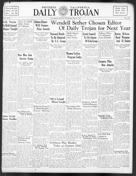 Daily Trojan, Vol. 24, No. 145, May 17, 1933