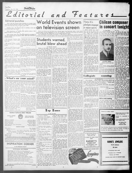 Daily Trojan, Vol. 37, No. 59, January 29, 1946